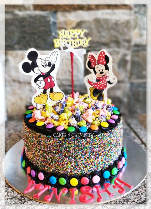 Astonishing Birthday Cakes For Girls Custom Cakes Cafe In Mulund Mumbai Funny Birthday Cards Online Unhofree Goldxyz